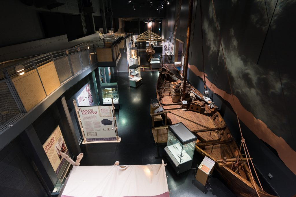 The Viking Voyagers exhibition 2016 at The National Maritime Museum Cornwall in Falmouth. Photo by Paul Abbitt
