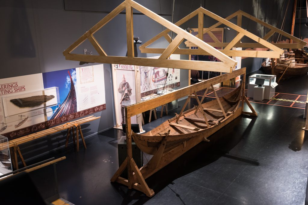 The vikings boatyard in the Viking Voyagers exhibition at The National Maritime Museum Cornwall on Discovery Quay, Falmouth. Photo by Paul Abbitt