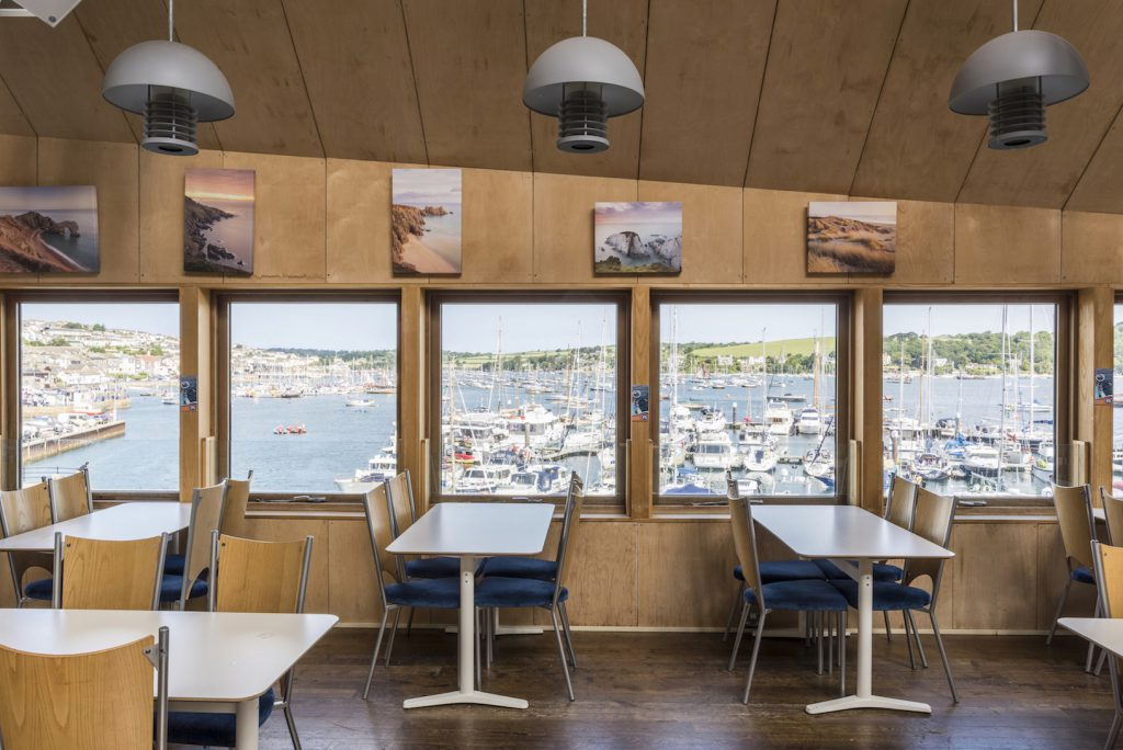 The Waterside Cafe at The National Maritime Museum Cornwall in Falmouth