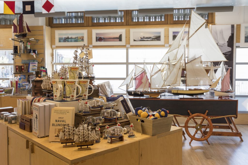 The gift shop at The National Maritime Museum Cornwall in Falmouth
