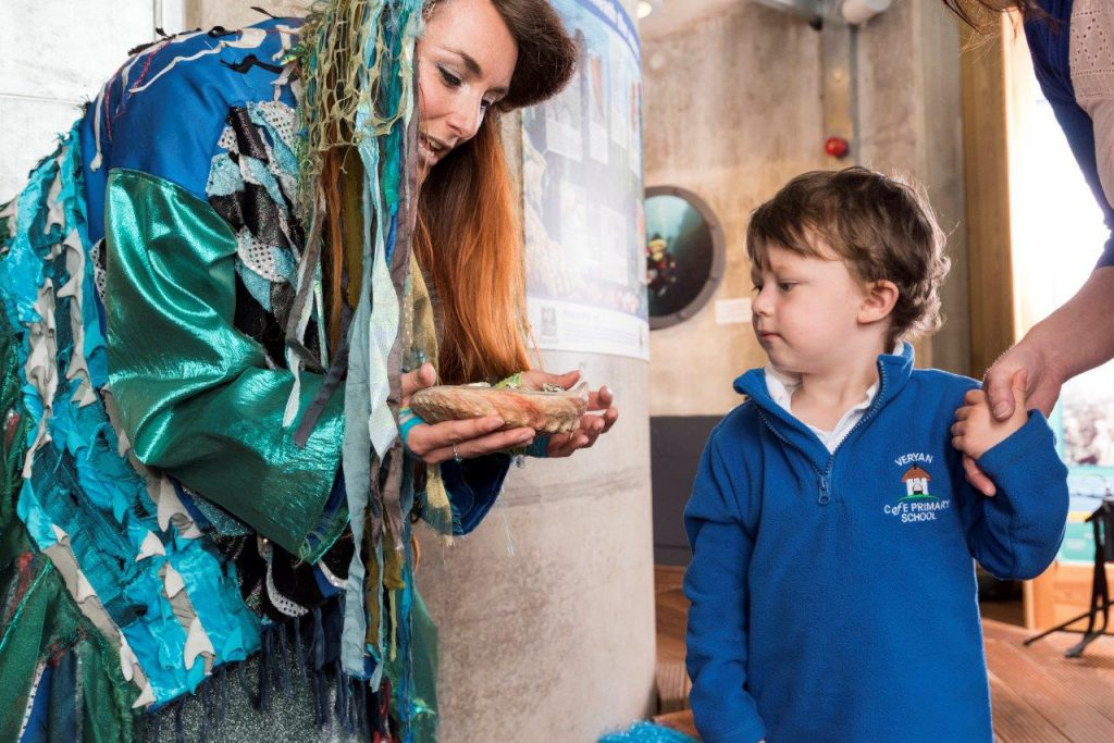 Under the sea schools programme at The National Maritime Museum Cornwall by Paul Abbitt 2017