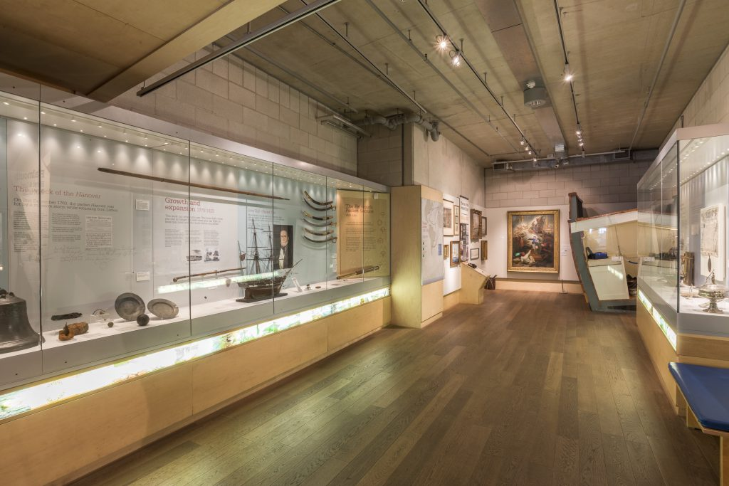 The Falmouth Packet Gallery at The National Maritime Museum Cornwall in Falmouth. Photo by Paul Abbitt